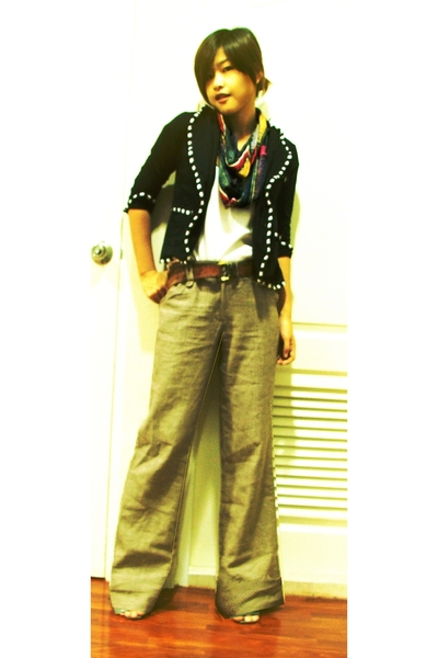 Local shop blazer - Ouky - garment outlet pants - from my vintage skirt scarf -
