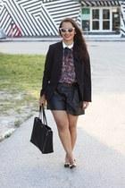 Zara shorts - ann taylor bag - Zara top - coach flats