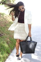 lace Forever 21 skirt - H&M blazer - crop top Forever 21 top