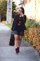 Forever 21 sweater - H&M blazer - Zara shorts