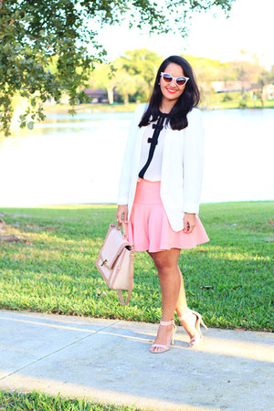 Forever 21 blouse - H&M blazer - JustFab bag - Payless sandals