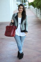 Forever 21 boots - H&M jeans - ann taylor jacket