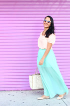 Forever 21 skirt - JustFab shoes - ann taylor bag - Forever 21 top