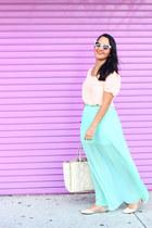 Forever 21 skirt - JustFab shoes - ann taylor bag - Forever 21 top
