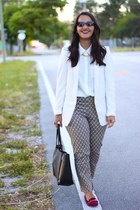 H&M blazer - ann taylor bag - Forever 21 loafers - 2020AVE necklace