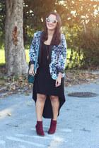 Forever 21 boots - Forever 21 dress - LC Lauren Conrad blazer