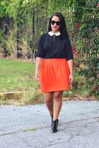 Aldo boots - H&M skirt - LC Lauren Conrad top