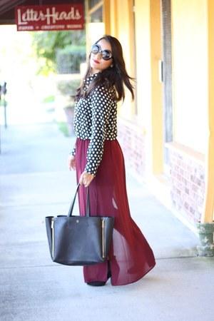 ann taylor bag - Forever 21 blouse