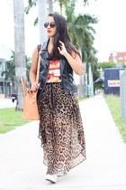 Forever 21 skirt - H&M vest - Forever 21 top