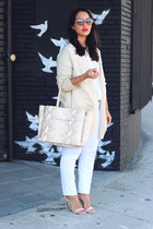 H&M cardigan - ann taylor bag - H&M pants - Payless sandals - H&M blouse
