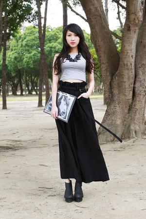 black WINDOW BAG bag - black JENN LEE pants - black morrstories necklace