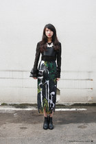 black WINDOW BAG bag - Fabitoria skirt - black JENN LEE top