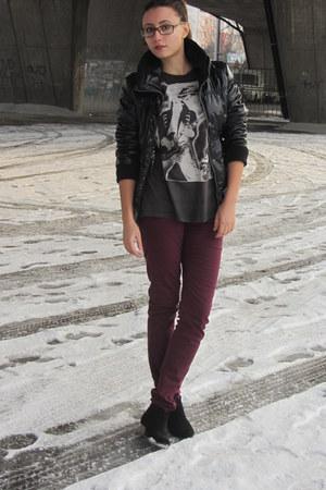 New Yorker boots - Bershka jacket