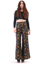 black bell bottoms pants