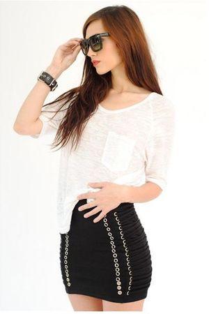 black evil twin skirt