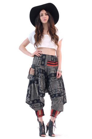 gray markings pants pants
