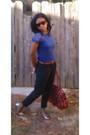 Blue-shirt-brown-goodwill-belt-black-charlotte-russe-pants-beige-target-sh