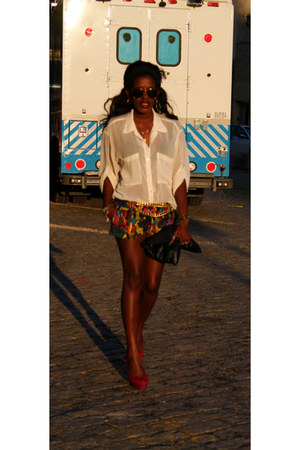 Steve Madden shoes - H&M shorts - Market Publique belt - American Apparel blouse