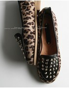 light brown leopard print Special Little Touch flats