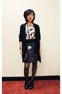Blue-h-m-sweater-black-h-m-top-black-marshalls-hat-black-leifsdottir-skirt