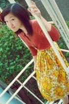 free people sweater - vintage belt - H&M accessories - vintage skirt - vintage s