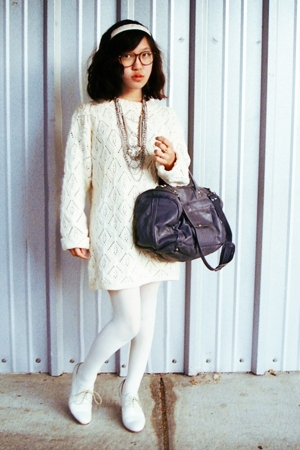 Gap sweater - random from macys tights - Rachel Comey shoes - vintage purse - H&amp;