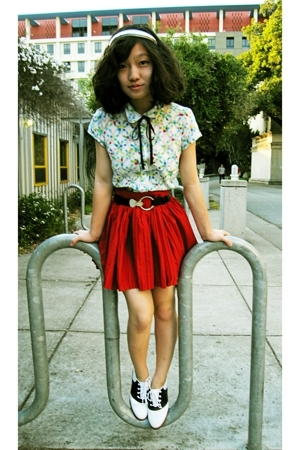 Anthropologie blouse - vintage skirt - Target accessories - vintage belt - vinta