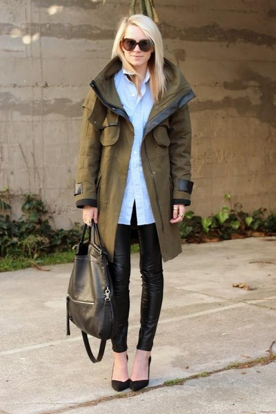 dark khaki jack & jones jacket - black Tally Weijl leggings
