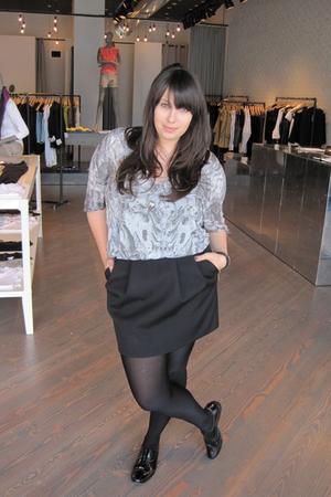 Helmut Lang shirt - Marni skirt - Pour La Victoire shoes