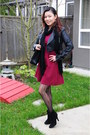 Black-ankle-boots-mtny-boots-brick-red-a-line-dress-forever21-dress