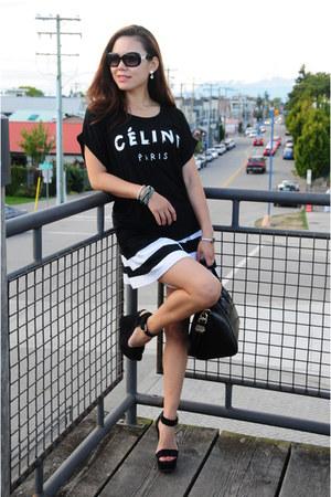 black Givenchy bag - black Chocoolate shorts - black Aldo wedges