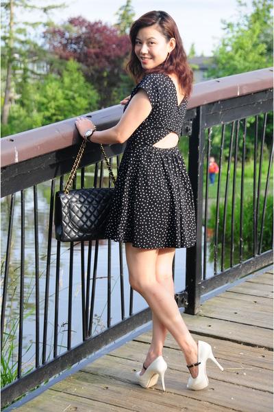 cutout dress Zara dress - Chanel bag - Guess sandals