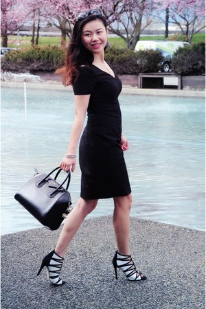 black Marc New York dress - black Givenchy bag - black Ivanka Trump heels