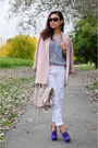 White-zara-jeans-light-pink-h-m-blazer