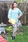 Aquamarine-knit-sweater-forever21-sweater-floral-leggings-h-m-leggings