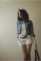 white after eight blouse - white The Limited shorts - blue Ralph Lauren jacket -