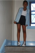 H&M shirt - denim shirt - Shoedazzle shoes