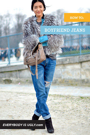 light blue vintage jeans