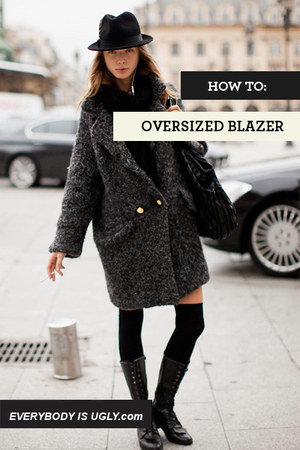 Charcoal-gray-streetstyle-blazer