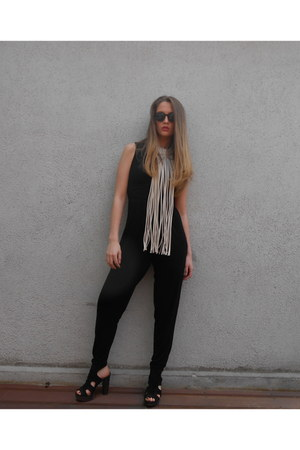 French Connection wedges - 60s round frame Topshop sunglasses - H&M necklace