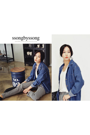 navy denim Ssongbyssong shirt