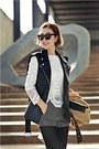 Black-leather-ssongbyssong-vest-ivory-knit-ssongbyssong-top