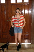Forever 21 top - shorts - Zara boots