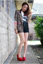leopard print pinkaholic blazer