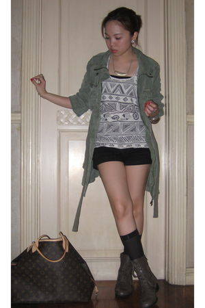Zara jacket - Forever 21 shoes - Forever 21 top