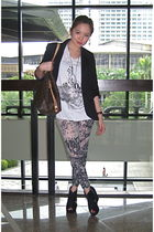 ropa shirt - Topshop blazer - HK leggings - Soule Phenomenon shoes
