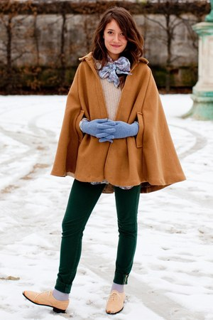 wool American Apparel cape - brogues American Apparel shoes
