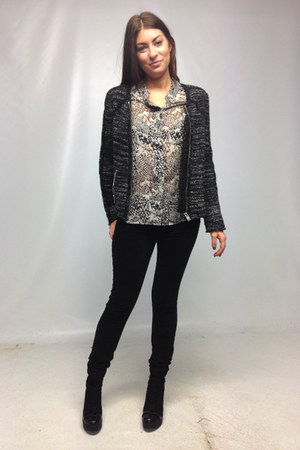 IRO jacket - Robert Clergerie boots - mother jeans - IRO blouse