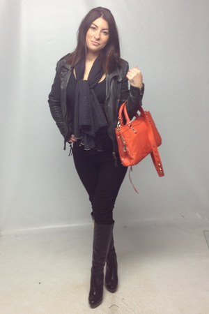 sam edelman bag - dvf boots - Nobody Denim jeans - Muubaa jacket