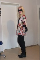 black Deichmann boots - black skinny H&M jeans